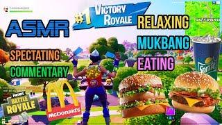 ASMR Gaming ???? Fortnite Mukbang Eating McDonald's Big Mac Burgers Commentary 먹방 ???????? Relaxing ????????