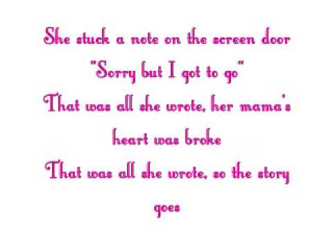 Suds in the Bucket~Sara Evans~Lyrics