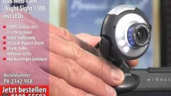 "Hochauflösende USB-Webcam SXGA ""Night Sight 1300"" mit LEDs"