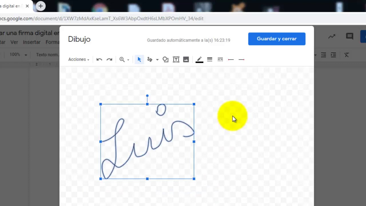 Cómo Crear Una Firma Digital En Documentos De Google Youtube