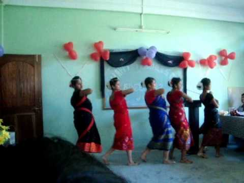 dance on pahariya mon on the occasion of teachers day nlcollege north lakhimpur 2012 dept of zoology