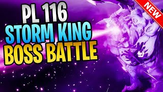 FORTNITE - New PL 116 Storm King Save The World Boss Battle Gameplay