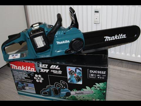 Makita DUC353 - Цепная аккумуляторная пила, распаковка и проверка.