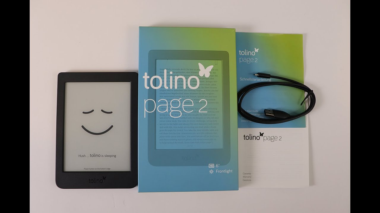 Tolino Page 2 Unboxing Youtube