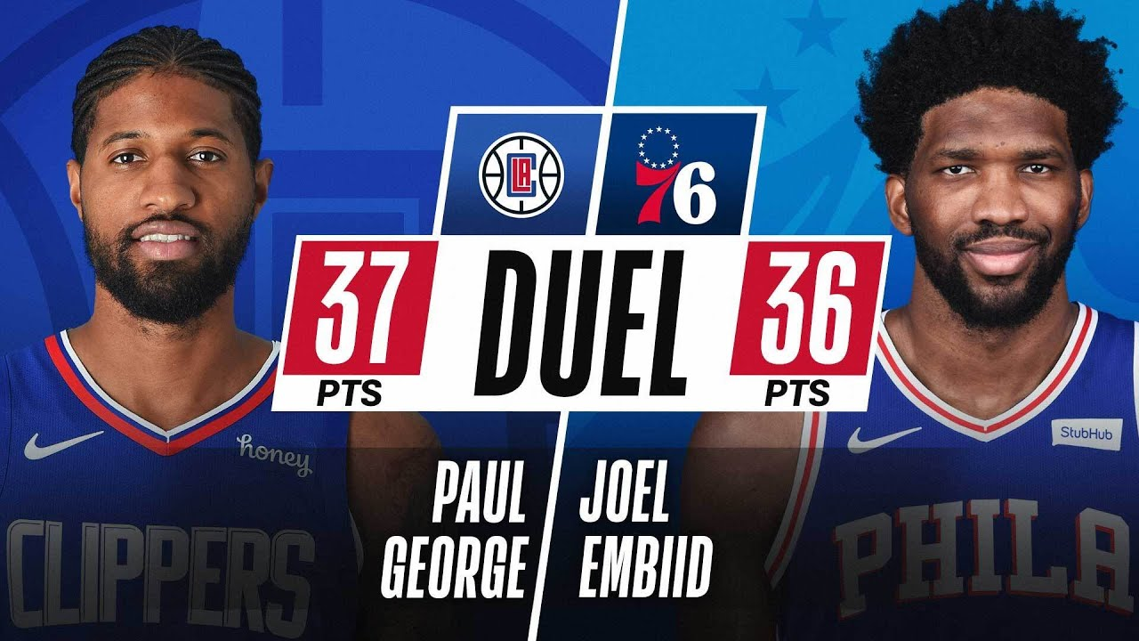Embiid (36 PTS) and PG (37 PTS) DUEL in Philadelphia! ⚔️