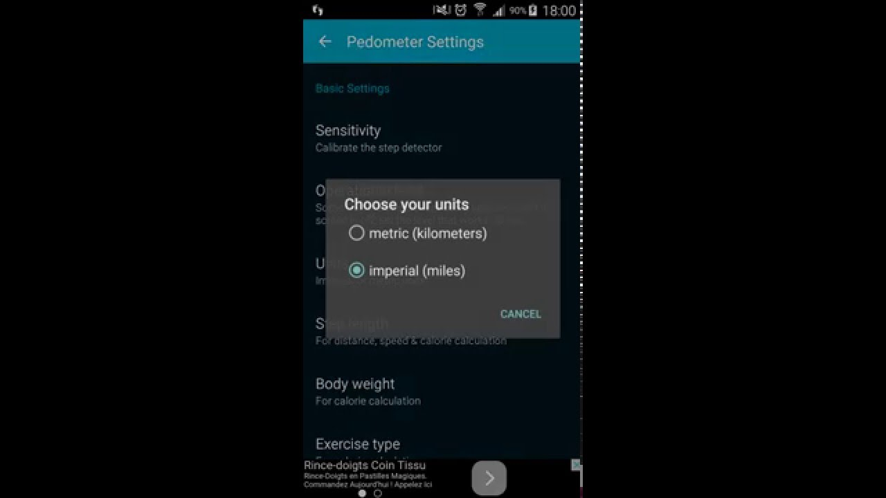 Pedometer Step Counter for Android