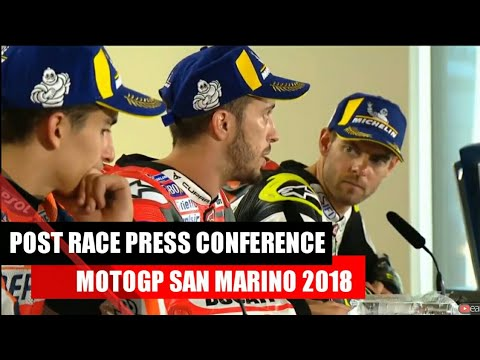 MotoGP San Marino 2018 | Post Race Press Conference MotoGP Misano 2018