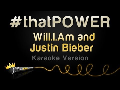 Will.I.Am And Justin Bieber - #thatPOWER (Karaoke Version)