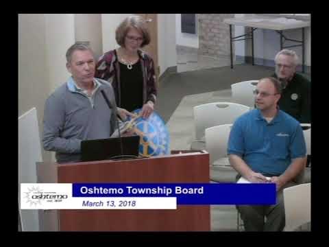 Oshtemo Charter Township Board Meeting 03/13/218