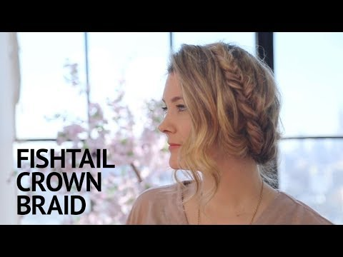 How ToFishtail Crown BraidYouTube