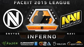 EnVyUS vs NaVi - Inferno (FACEIT 2015 League)(Play on FACEIT for free: http://www.faceit.com FACEIT on Twitter: http://www.twitter.com/faceit FACEIT on Facebook: https://www.facebook.com/FaceitCommunity ..., 2015-04-07T15:39:29.000Z)