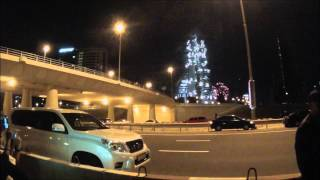 Dubai tower fireworks 2014