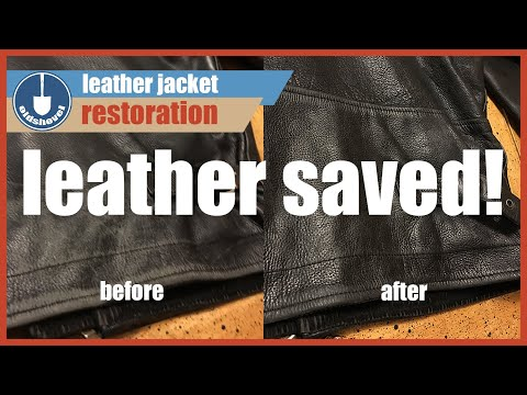 Leather Jacket Restoration - Jack Reacher Thrift Store Find!