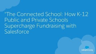 The Connected School: How To Raise More Funds In K-12