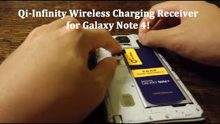 qi infinity wireless charging receiver for galaxy note 4