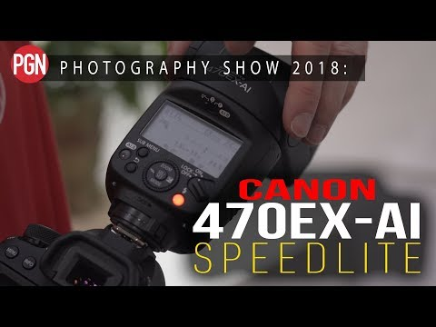 Canon 470EX-AI flash with artificial intelligence