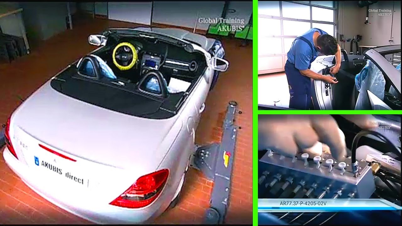 Mercedes Benz Slk Perform Hydraulic Pressure Test Youtube