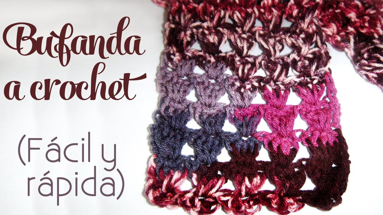 Cómo tejer: Bufanda a crochet (fácil y rápida) - YouTube