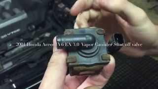 2001 Honda Accord EX 3.0 V6 Vapor Canister Shutoff Valve P1457 FIX Evap Leak Repair Super Easy!!!