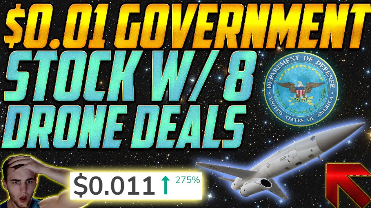 A $0.01 HIDDEN Government PENNY STOCK HAS 8 Drone Deals Soon 😱 100% Penny Stock?