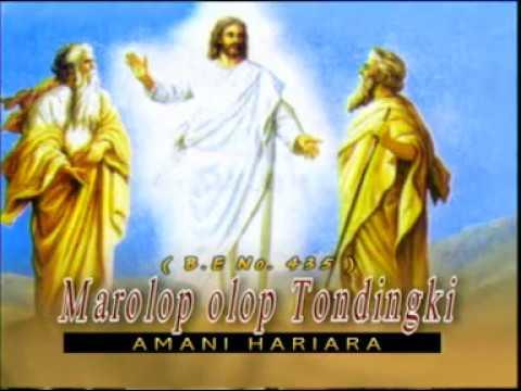 LAGU ROHANI BATAK, AMANI HARIARA - MAROLOP-OLOP TONDINGKI (Buku Ende No. 435)