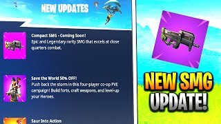NEW FORTNITE UPDATE - NEW WARPAINT & ROSE TEAM LEADER SKINS FREE! NEW COMPACT SMG UPDATE!!