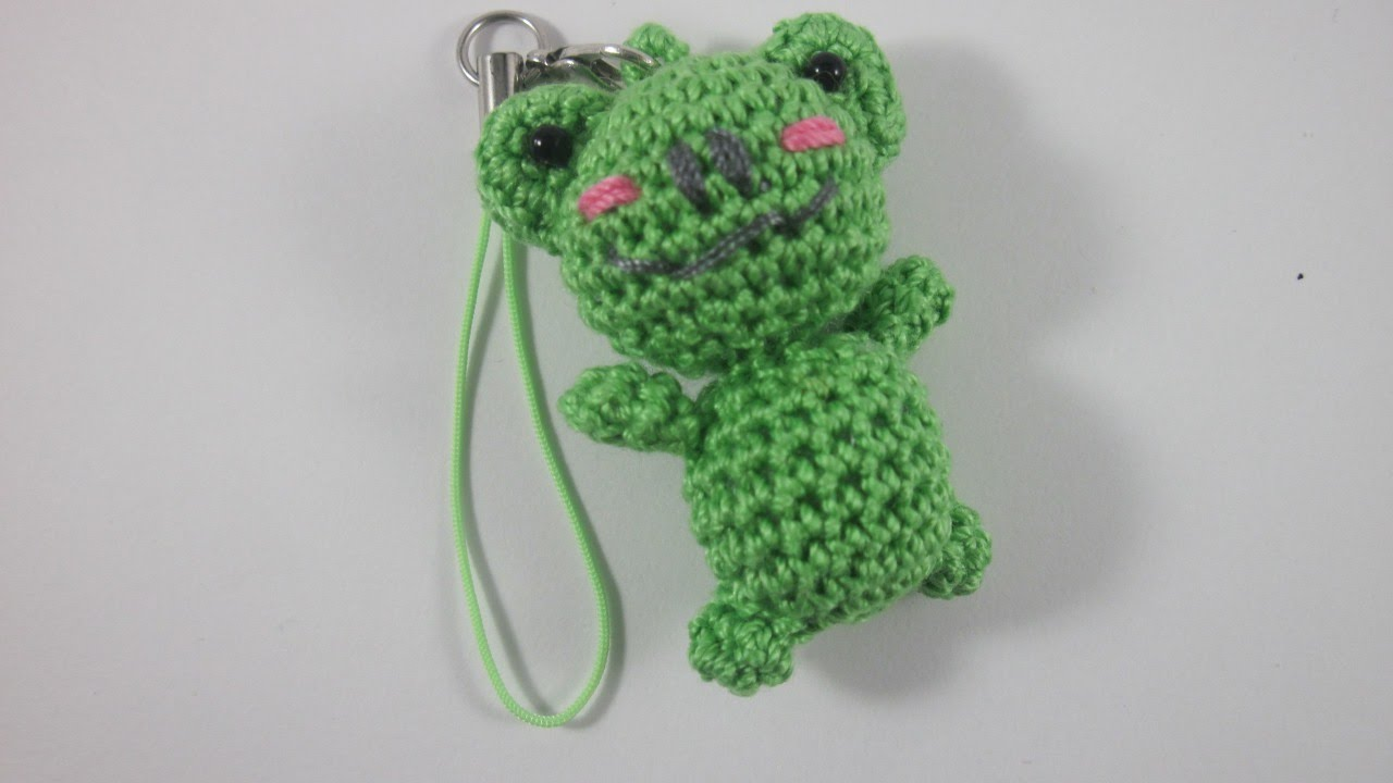 Amigurumi Crochet Keychain : How to crochet a mini amigurumi frog keychain diy crafts