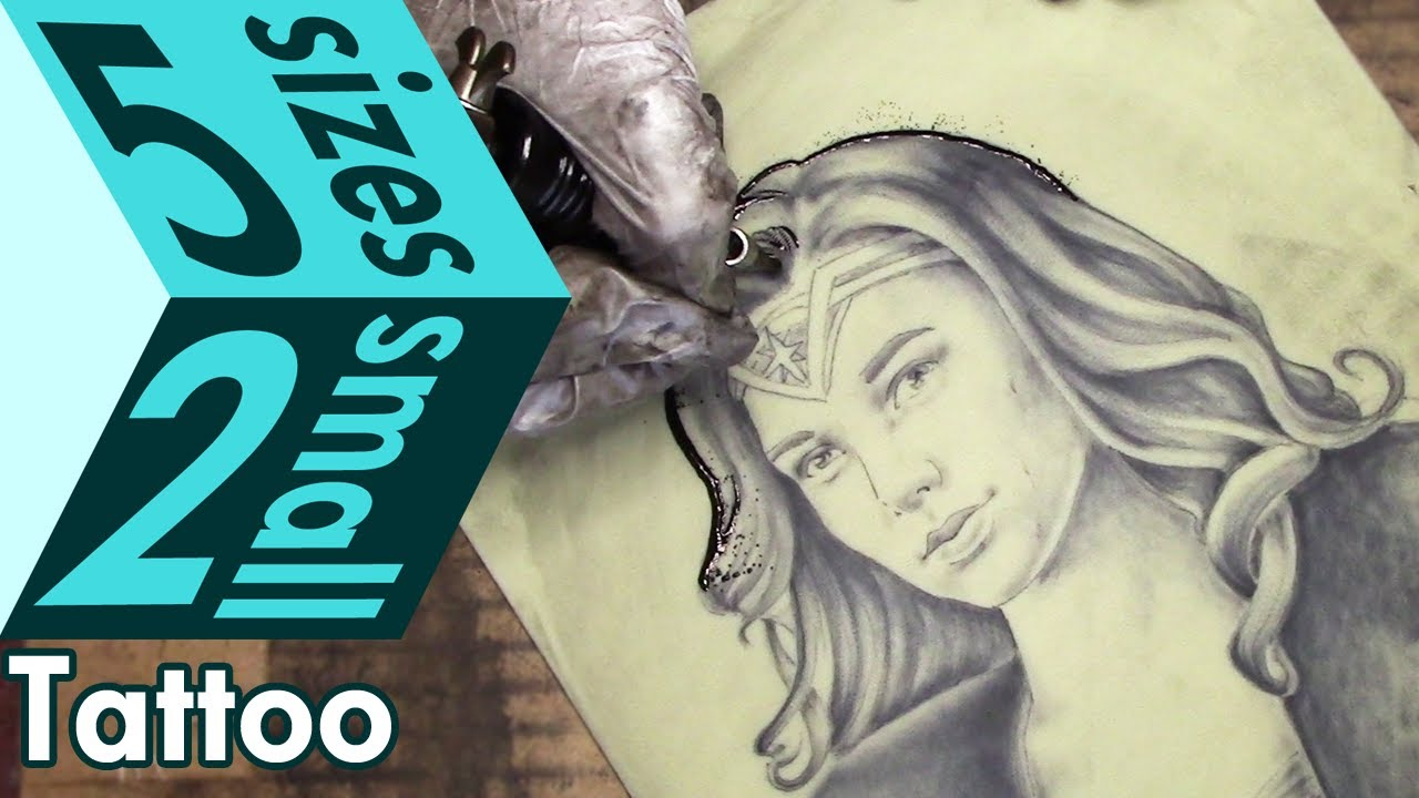 Gal gadot wonder woman portrait tattoo practice on fake for How to make fake skin for tattooing