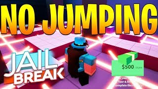 NO JUMPING CHALLENGE IN JAILBREAK! *HARD* (Roblox)