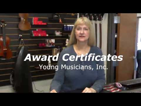 Award Certificates from Young Musicians Inc