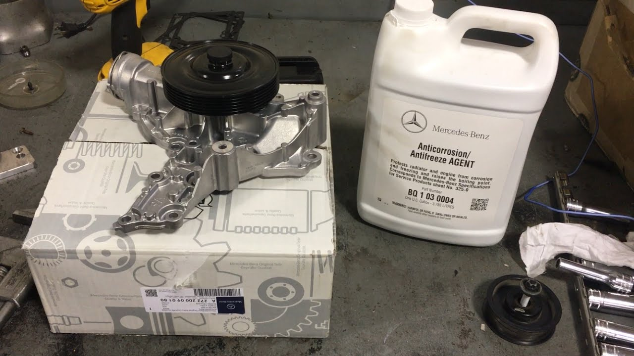 medium resolution of 2011 mercedes benz ml350 4matic water pump replacement