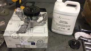 2011 Mercedes-Benz ML350 4matic water pump replacement