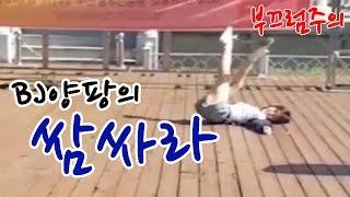 아프리카 수지 bj양팡의 길거리 쌈싸라(samsara) 리액션  [흥민하이라이트]