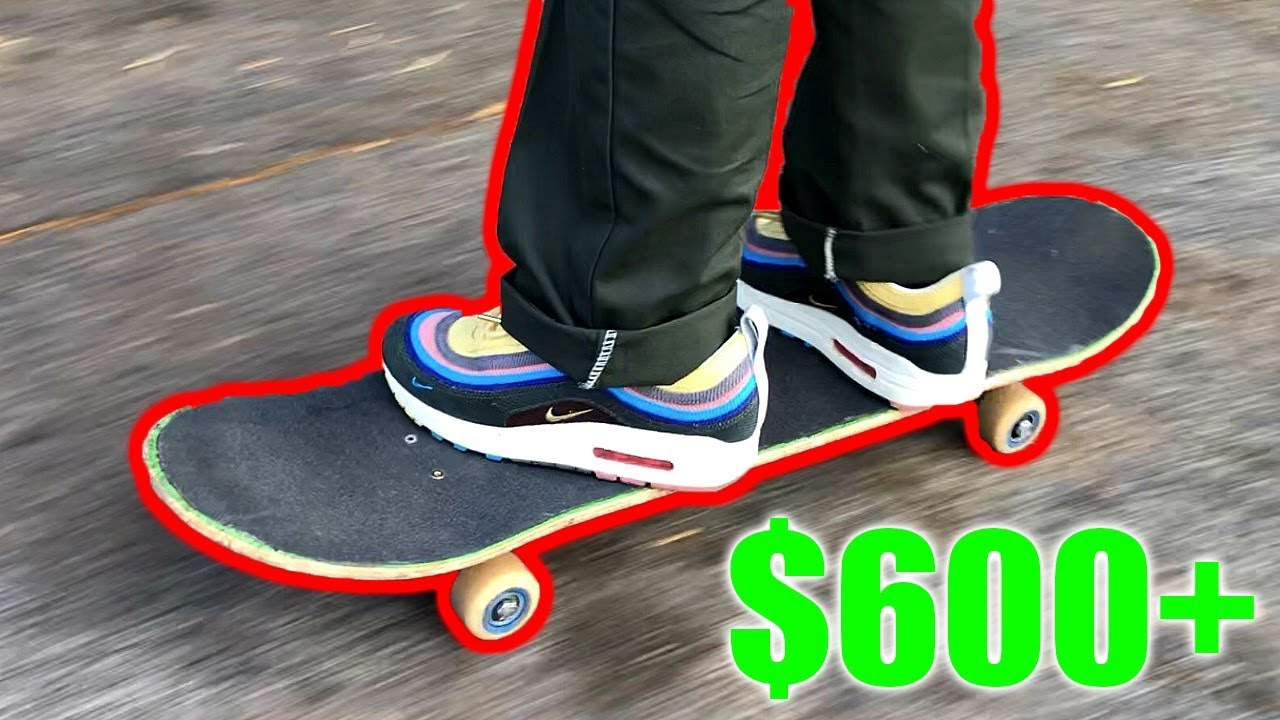 SKATING IN MY $600+ NIKE SHOES! - YouTube