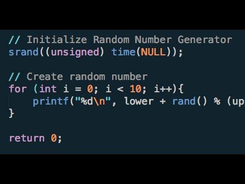 Make A Random Int In C - Simple Tutorial