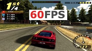 PS2 Need For Speed: Hot Pursuit 2 @ real 60fps test run gameplay (PCSX2 emu)