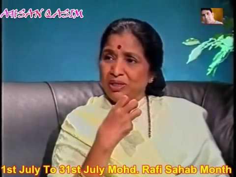Asha Bhosle Ji Talks about Mohd Sahab