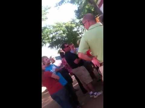 Open air preaching at the Athens fair