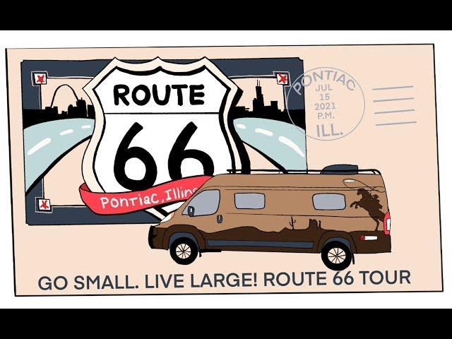 #Vanlife caravan on ROUTE 66 Pontiac to Springfield, Lincoln Tomb, Cozy Dog, Artist Bob Waldmire