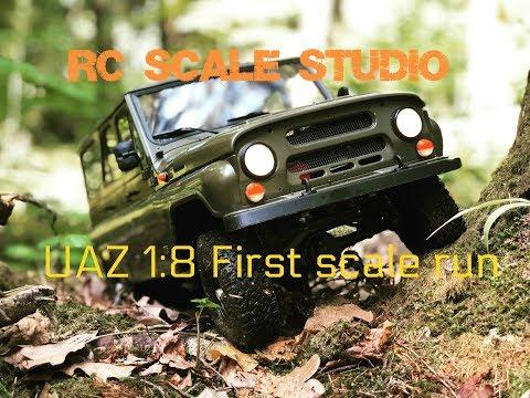 Rc Scale Studio Model 4x4 1:8 UAZ 3151 First Scale Run