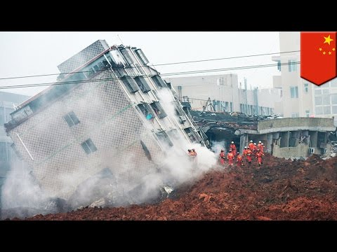 Shenzhen landslide: How mountain of construction debris buried buildings, people in China - TomoNews