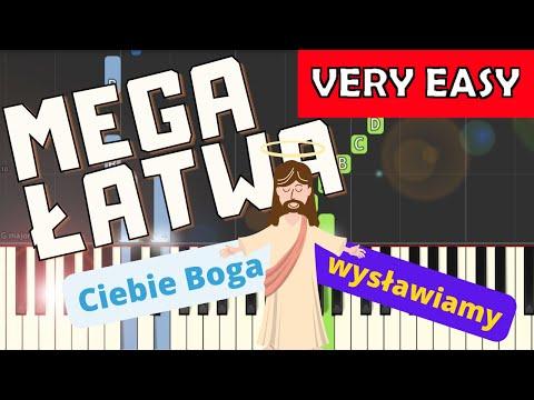 🎹 Ciebie Boga wysławiamy - Piano Tutorial (MEGA ŁATWA wersja) 🎹