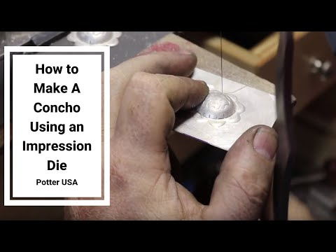 How to Make A Concho Using an Impression Die