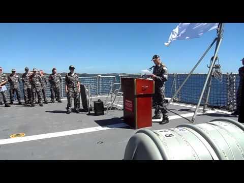 HMAS Perth I- 71st Anniversary Memorial Service at Sea 1Mar13 on HMAS Perth III