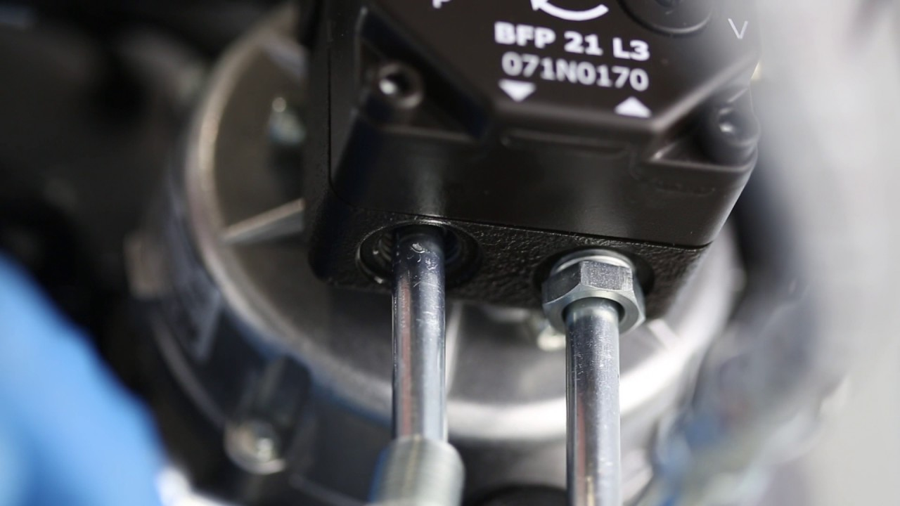 Converting the oil pump from 1 to 2 pipe system BFP 20, 21, 41 and 52