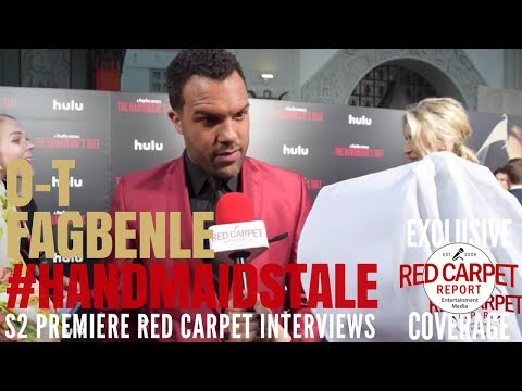 O-T Fagbenle interviewed at the premiere of Hulu's The Handmaid's Tale S2 #ResistSister