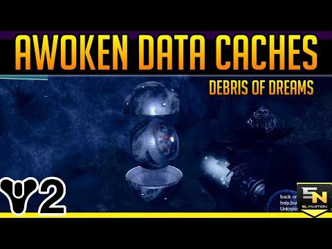 Destiny 2 | Awoken Data Cache Locations! Debris of Dreams- Derelict Shipyard, Outpost, Overlook