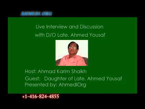 Interview with murdered Ahmed Yousaf's daughter