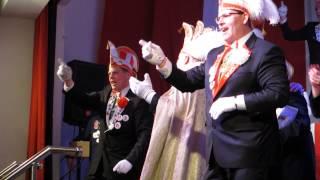 Wagenbausitzung 2015 Beckum: Lied Prinz Kai-Uwe I. Knapheide und Elfferat