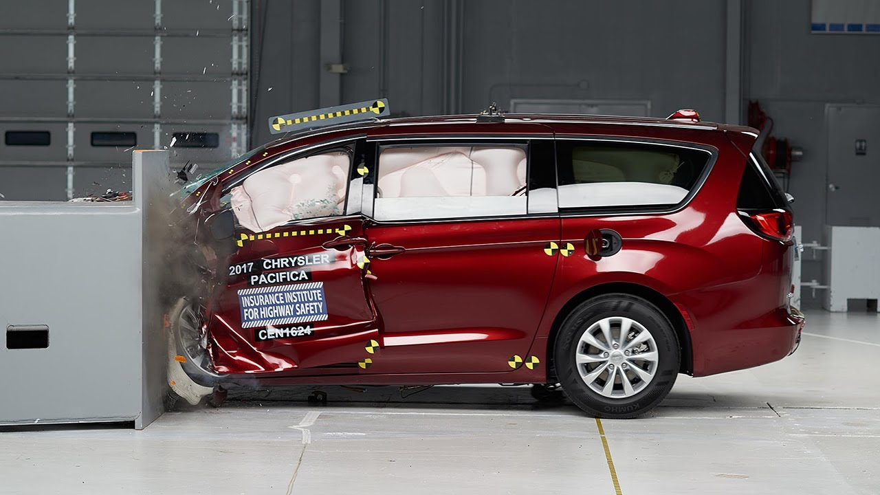 2017 Chrysler Pacifica Driver Side Small Overlap Iihs Crash Test